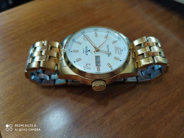 Relógio Technos Golf dourado - Foto 4