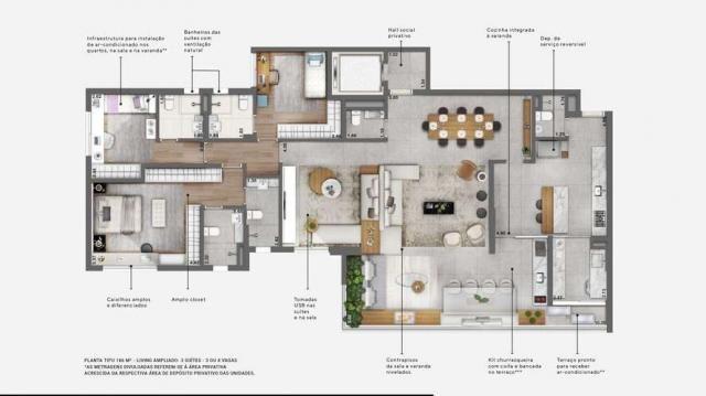 Apartamentos de 186 m² com 3 ou 4 suítes - ótima localização no campo Belo - SP - Foto 18