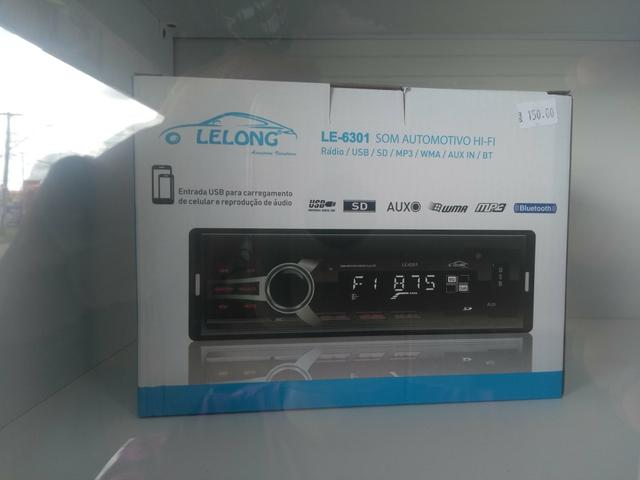 Rádio LELONG SOM AUTOMOTIVO COM BLUETOOTH