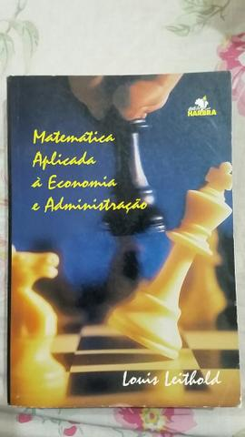 Matemática Aplicada à Economia e Administração
