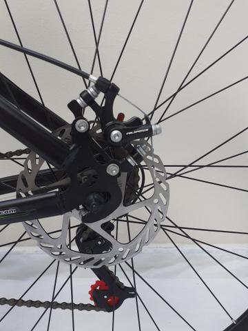 """Bicicleta 29"""" tem 19"""" susp+disco - Foto 5"""