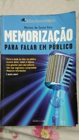 Livro Memorização para falar em publico