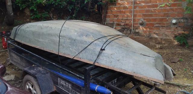 Vendo canoa de fibra - Foto 2