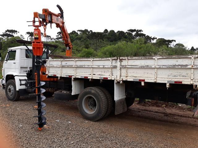 Munck, muck, muque, trado, perfuratriz, vw 13.150, vw, caminhão munck - Foto 5