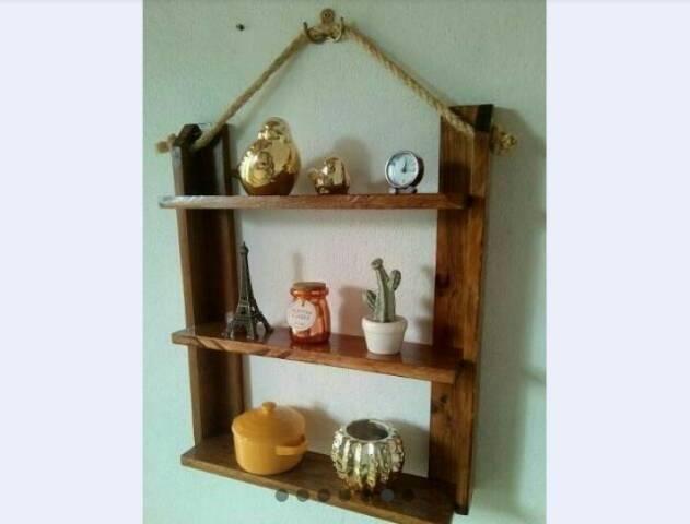 Fabricamos móveis e peças decorativas, com paletes ,sob encomenda - Foto 4
