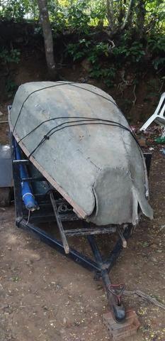 Vendo canoa de fibra
