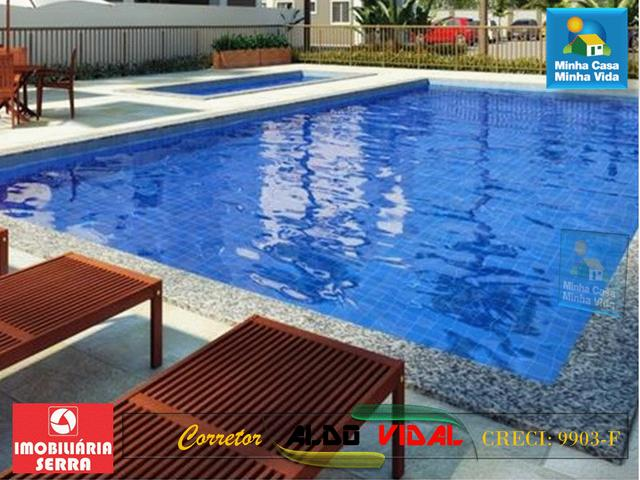 ARV 96 Apartamento Novo 2 Quartos, Condomínio Club. Carapebus, Serra - ES - Foto 15