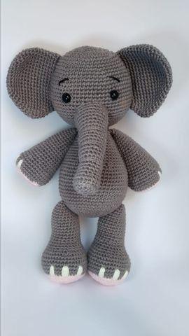 Elefante amigurumi Elephant crochet - YouTube (com imagens ... | 480x270