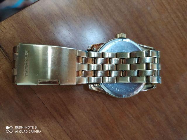 Relógio Technos Golf dourado - Foto 2