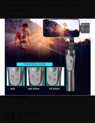 Estabilizador Gimbal Portatil Para Camera 3iexos It-blue - Foto 3