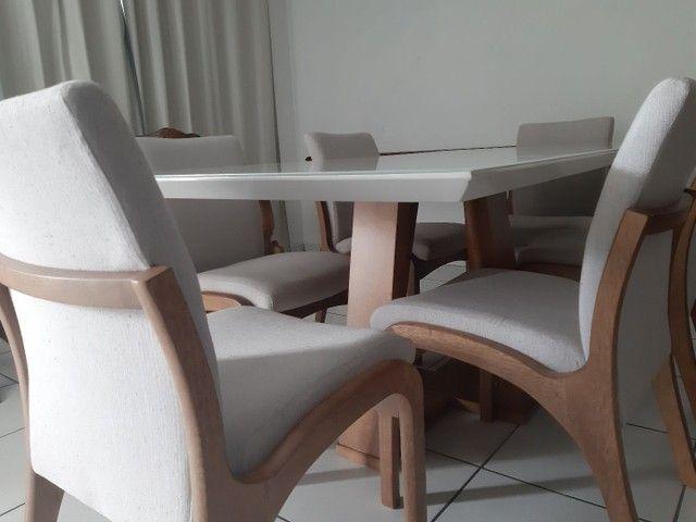 Imperdivel-Mesa com tampo de vidro laqueado + 6 cadeiras modelo Sabrina   - Foto 2