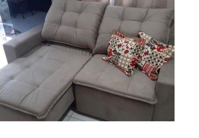 Sofá NOVO com almofadas de flocos e assento retrátil   Frete grátis para o ES - Foto 5