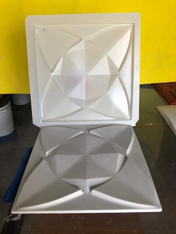 Forma de Abs 1mm Para Gesso - Modelo Estrela 39x39 cms
