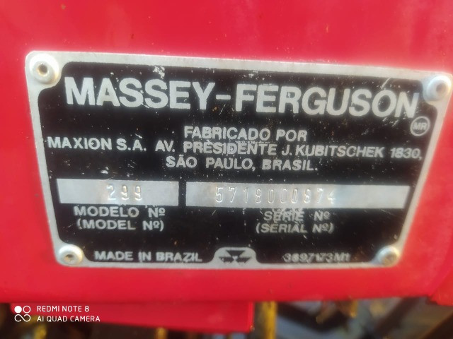 Massey Fergusson 299 3 Alavancas 1992 Calçado Pneus - Foto 6