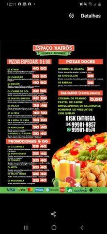 Pizzas G 8 pedaços 25 reais