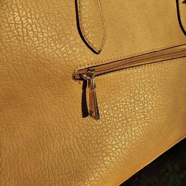 Bolsa feminina de mão linda bege Vivatti couro  - Foto 6