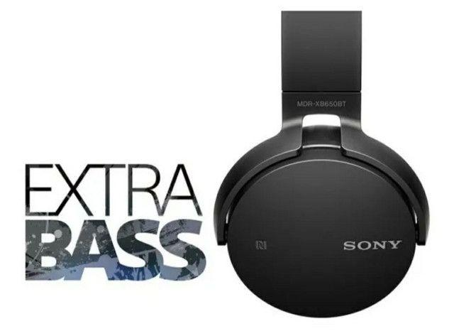 Fone Sony Mdr-xb650bt Extra Bass Bluetooth Original - Foto 5