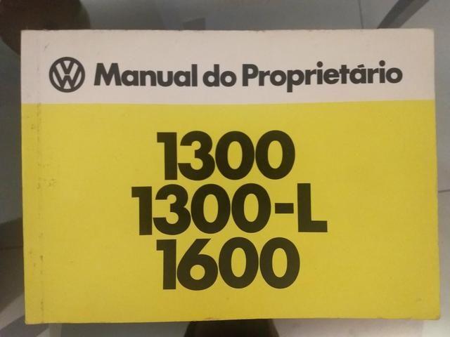 Manual original do Fusca 1.300/1.500/1.600
