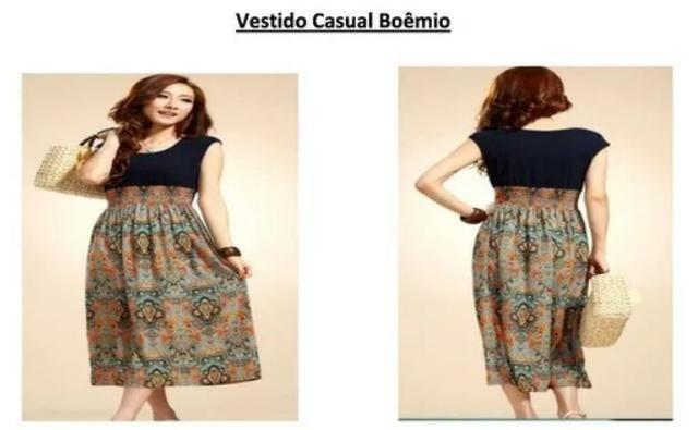 bd2439dd449f Vestidos simples e bonito para o dia a dia malha fina fresca valor 50 reais  wats 993579451