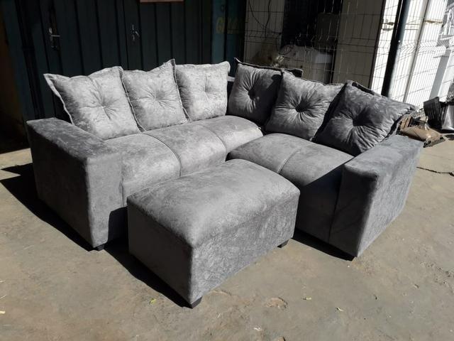 Promoção sofá clarice com puff r$699,00 reais - Foto 3