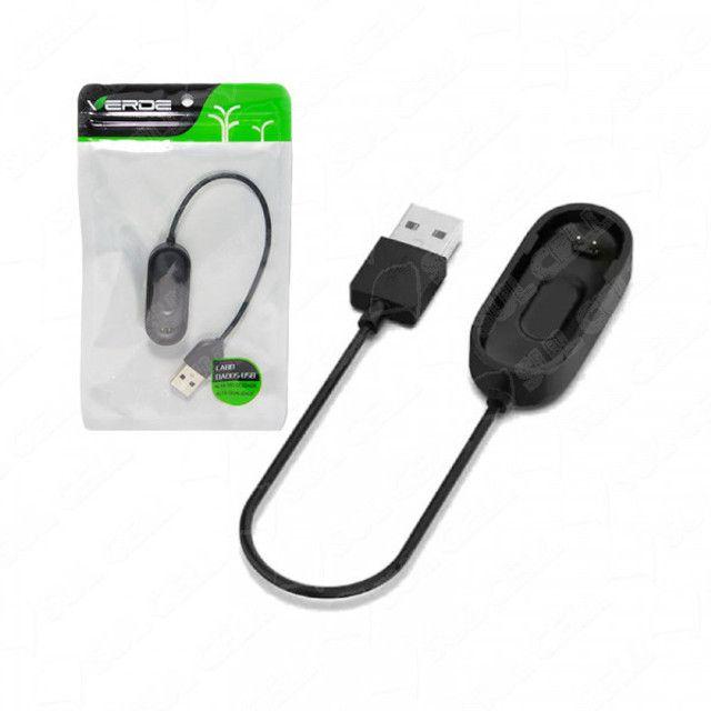 Cabo Carregador p/ Bracelete Smart Pulseira Medidor Cardiaco Xiaomi Mi Band 4