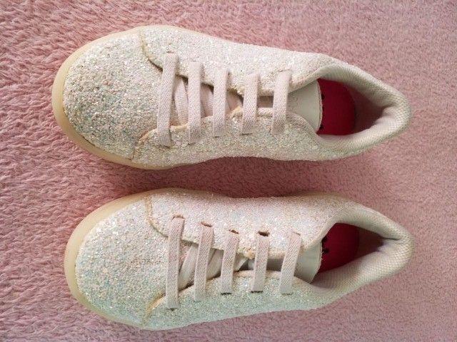 Conjuntos de TRÊS (3 pares) de tênis infantil menina (1 NOVO) marca BIBI - Foto 2