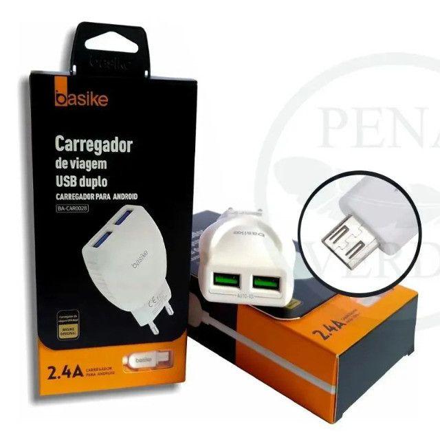 Carregador celular parede Basike BA-CAR0028 V8 2.4A