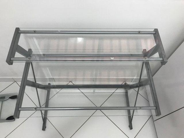 Mesa de vidro pra escritório  - Foto 4