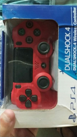 Controle PS4   Sony vermelho e/ou branco original  sem fio - Foto 5