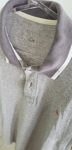 Camiseta polo six one cinza