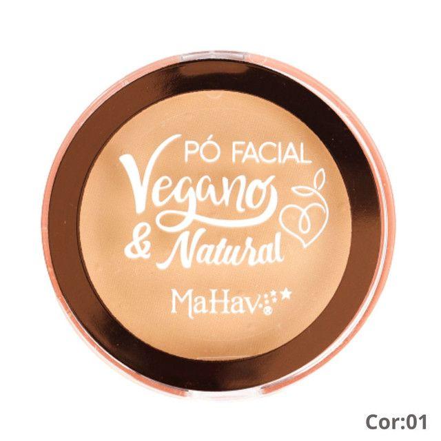 Pó Facial Vegano e Natural Mahav Cor:01 - Foto 2