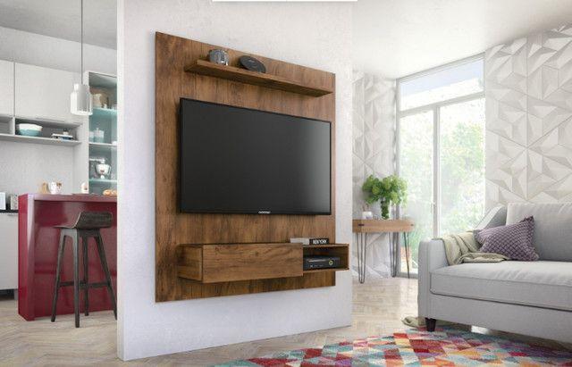 Rack suspenso da Caemmun com espaço para TV até 50 polegadas || NOVO - Foto 3