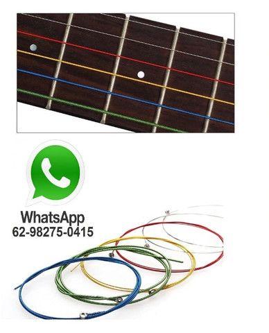 Jogo de Corda de Aço para Violão - Cordas Coloridas