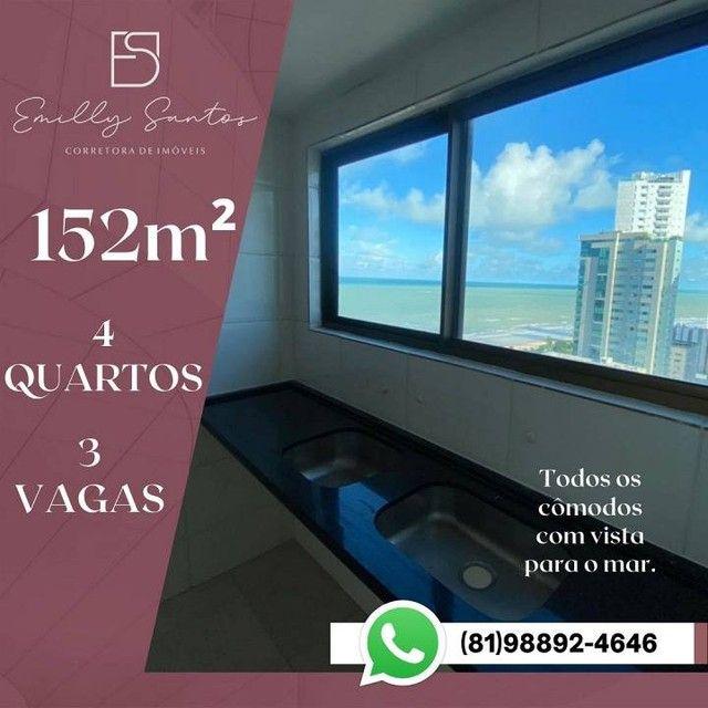 Apartamento para venda com 152 metros quadrados com 4 quartos em Pina - Recife - PE - Foto 4