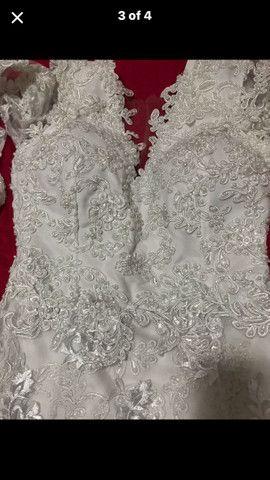 Vestido branco impecável usado 1x  - Foto 2