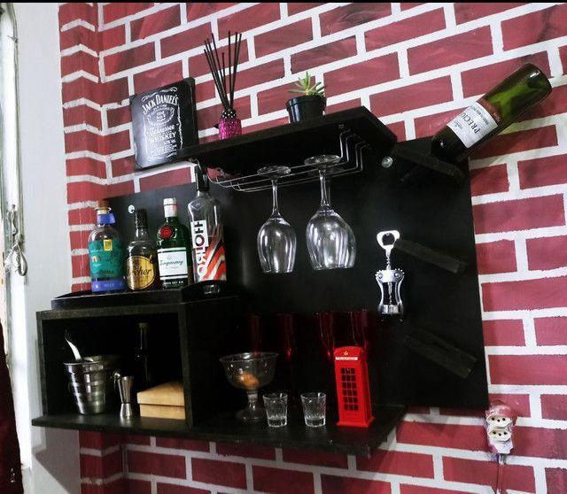 Bar Suspenso com Adega em MDF