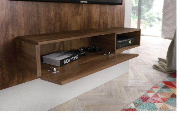 Rack suspenso da Caemmun com espaço para TV até 50 polegadas || NOVO - Foto 2