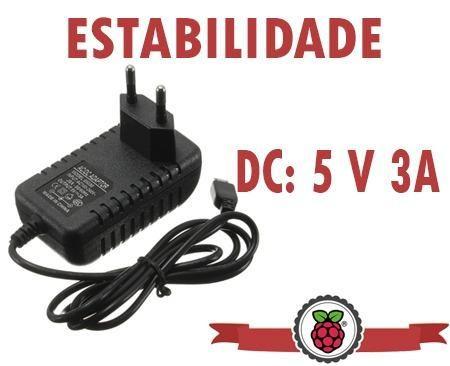Fonte Raspberry Pi3 Pi 3 5v 3a (recomendada)
