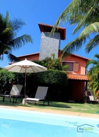 Casa com 4 dormitórios para alugar, 400 m² por r$ 700/dia - itacimirim - camaçari/ba - Foto 2