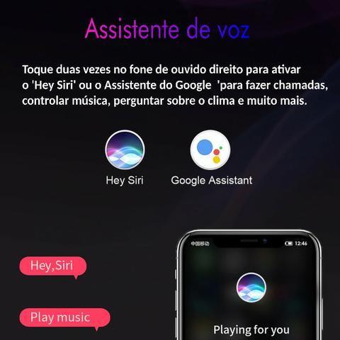 Mini Fone de Ouvido Sem Fio Tws Sanlepus Bluetooth 5.0 Cor Branca - Foto 5