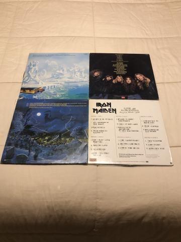 4 álbuns Iron Maiden excelente estado incluindo LIVE AT DONINGTON - Foto 2