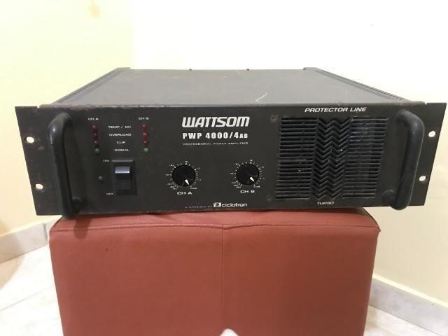 PWP 4000/4AB - Amplificador de potência profissional 1000 RMS