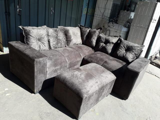 Promoção sofá clarice com puff r$699,00 reais - Foto 2