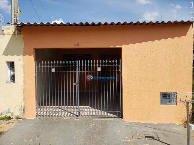 Casa com 2 dormitórios para alugar, 90 m² por R$ 1.200/mês - Parque Gabriel - Hortolândia/