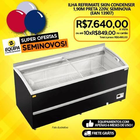 Ilha Refrimate Skin Condenser 1,90m Preta 220v, Seminova