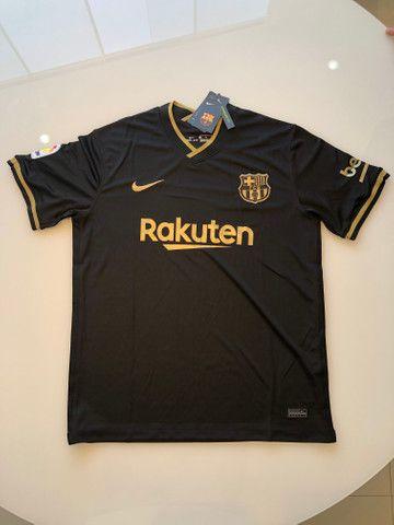 Camisa Barcelona Preta - Foto 2
