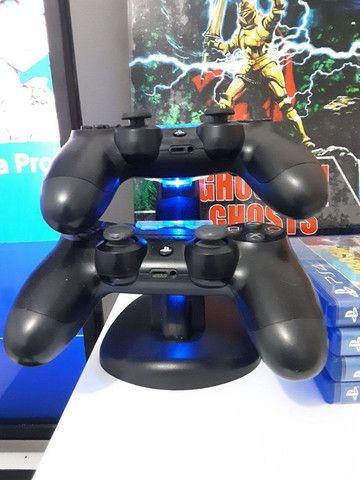 Playstation 4 + 2 controles + 4 jogos - Foto 5
