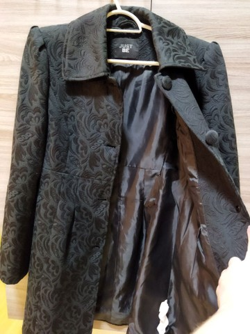 Vendo casaco tecido trabalhado usado 2x SOMENTE - Foto 2