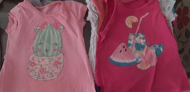Lote camisetas menina - Foto 4