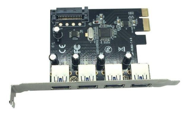 Placa PCI-E com 4 portas Usb 3.0 - Foto 3